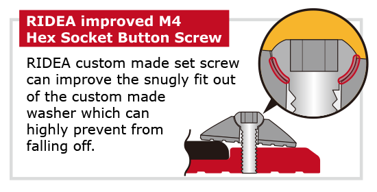 RIDEA improved Hex Socket Button Screw